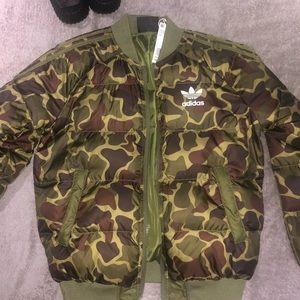 Adidas Pharrell Williams camo bomber jacket xs